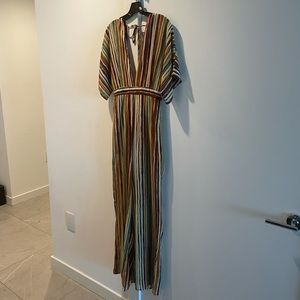 Forever 21 Striped Wide Leg Jumpsuit